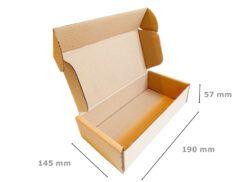 Pudełka fasonowe wymiary 190x145x57