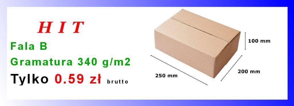Pudełko Fala B Gramatura 340g/m2 tylko 0.59 zł