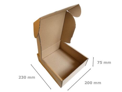 Pudełko fasonowe wymiary 230x200x75
