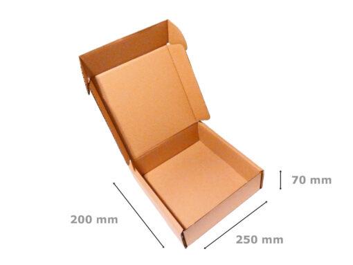 Pudełko fasonowe wymiary 200x250x70