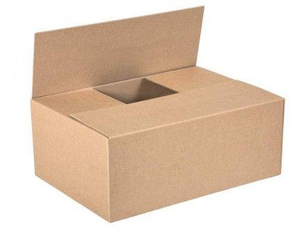 Pudełko klapowe szare