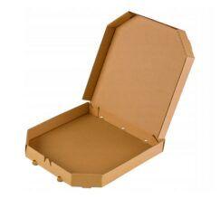 Pudełko na pizzę szare kwadrat ścięte rogi
