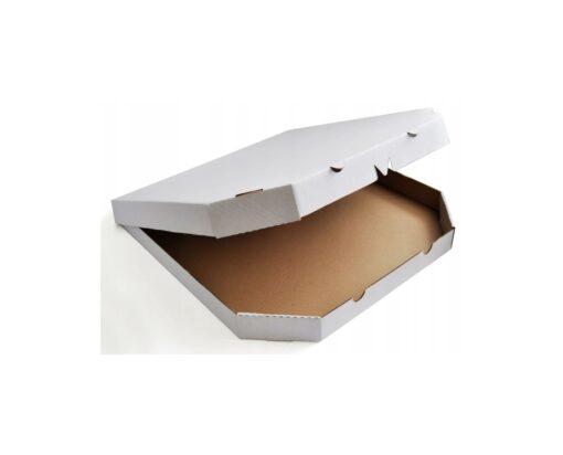 Pudełko na pizze ścięte rogi białe