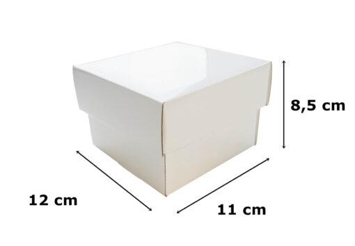 Białe opakowanie prezentowe fasonowe 12x11x8,5