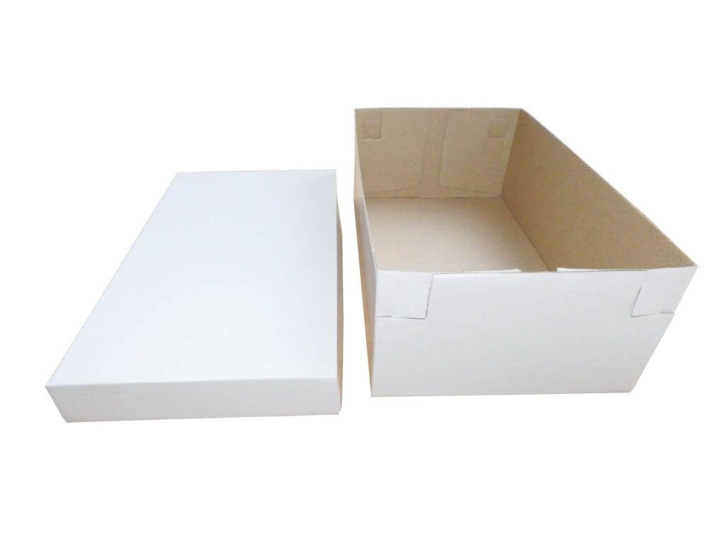 Fasonowe opakowanie szewskie białe kaszerowane
