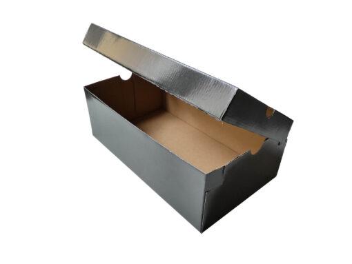 Pudełko na buty jednoczęściowe czarne